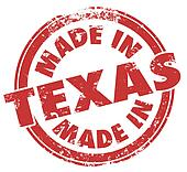Made in Texas TX Round Stamp Words State Pride Product Manufactu