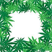 Marijuana leaves frame