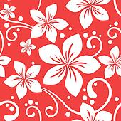 Seamless Hawaiian Christmas Pattern