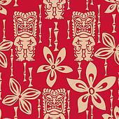 Seamless Tiki Tapa pattern