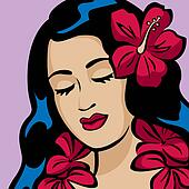 Portrait of a Hawaiian Hula Girl