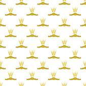 Wheats Ribbon Seamless Pattern