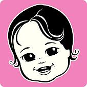 Child Face Clip Art - Royalty Free - GoGraph
