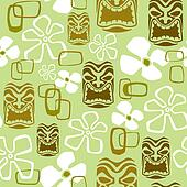 Exotic Tiki Paradise Pattern
