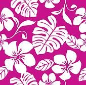 Tropical Pink Bikini Pattern