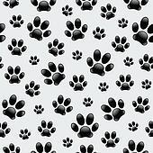 Dog's Footprints-Seamless Pattern