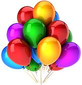 Helium balloons multicolor