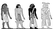 Egyptian hieroglyphics races of men