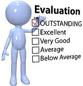 Manager check business quality evaluation report