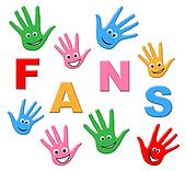 Kids Fans Means Social Media And Youth