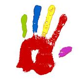 colorful child hand