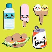 Cute Happy Food