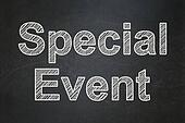 Finance concept: Special Event on chalkboard background