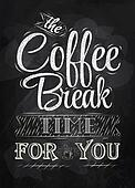 Poster lettering coffee break chalk