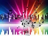 Music Colors Background Means Singing Playing Or Disco
