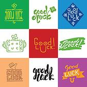 Good luck lettering set.
