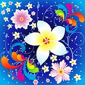 abstract colorful flowers background