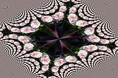 Pink rose mosaic