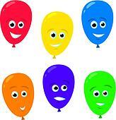 Cartoon Balloon Faces