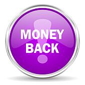 money back pink glossy icon