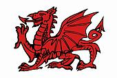 Red Daragon of Wales - Isolated