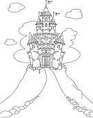 Magic Castle coloring page