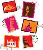 Landmarks stamps