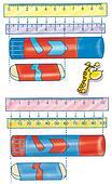 measure, ruler, glue, giraffe, math
