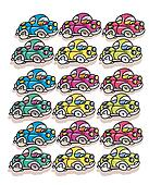 cars, small beetles