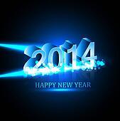 Vector Celebration holiday Happy new Year 2014 background