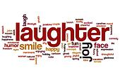 Laughter word cloud