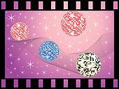 colored mirror balls
