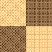Four seamless background wafers