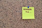 Post it note - remember to