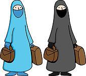 Muslim Woman Wearing Burka
