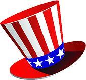 Patriotic American top hat
