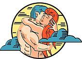 Romance Adam And Eve Love Pop Art