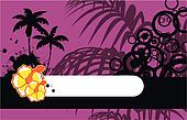 tropical flower background 01
