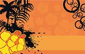 tropical flower background 09