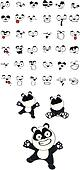 panda baby cartoon set3