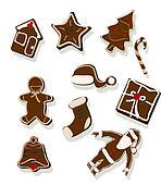 gingerbread cookies - vector