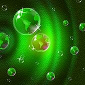 Green Glow Indicates Solar System And Blazing