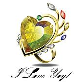 Gold ring with heart shape diamond