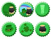 Set of St. Patrick bottle tops