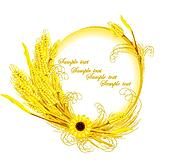 sunflower with wheat decoration
