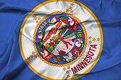 Waving Minnesota State Flag