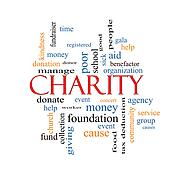 Charity Word Cloud Concept
