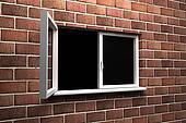 Opened window
