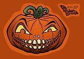 Halloween pumpkin, jack-o-lantern