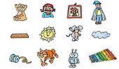 pirate, teddy ,bear, robots, sun